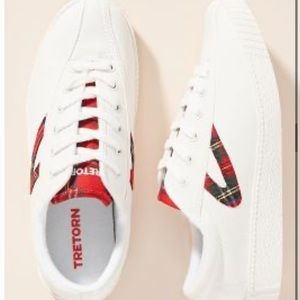 Tretorn Plaid Low Top Sneaker Shoes 6.5